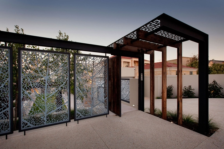 Entrance gate in Modern backyard by Ritz Exterior Design