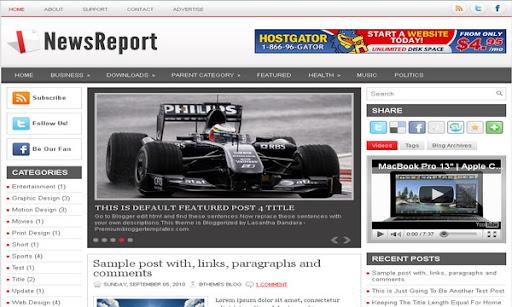 NewsReport Blogger Template