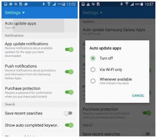 Cara menghentikan auto update aplikasi Android Samsung 2