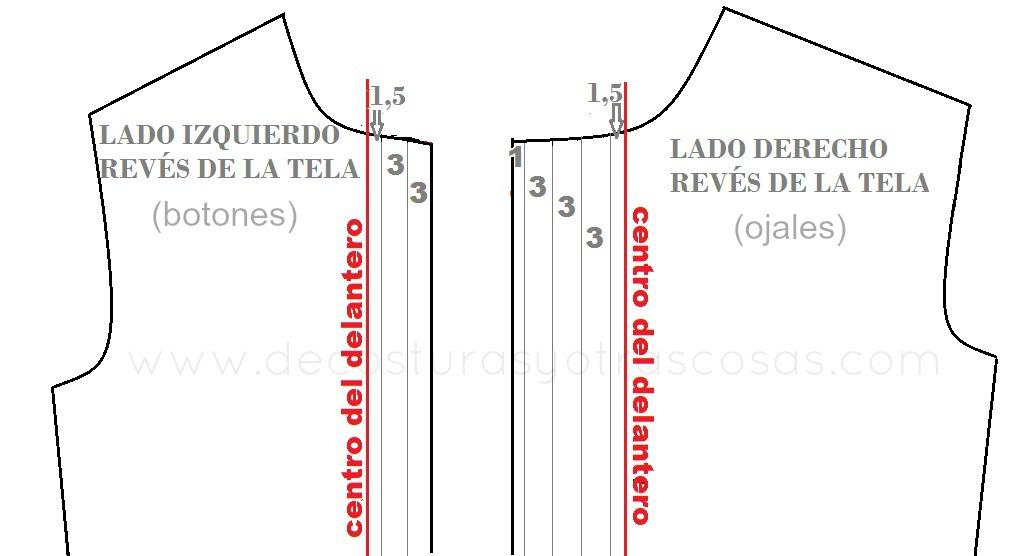 esquema para hacer vista oculta en una blusa