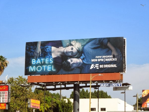 Bates Motel season 2 billboard