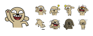Hello Brown Facebook Stickers