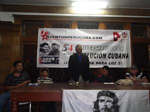 Acto de conmemoraciòn por el 54 aniversario de la Revoluciòn Cubana