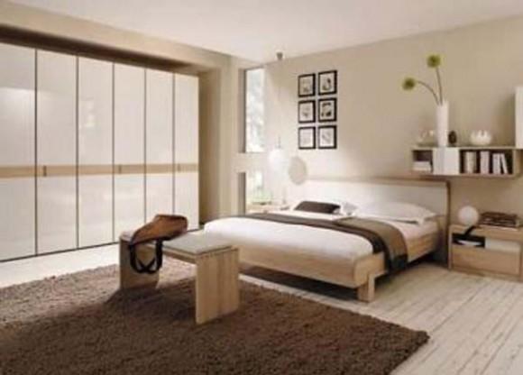Decoracin de un Dormitorio en Blanco y Marrn Decorar tu Habitacin