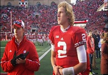 Wisconsin QB Joel Stave dealing with lingering shoulder injury, is out indefinitely.