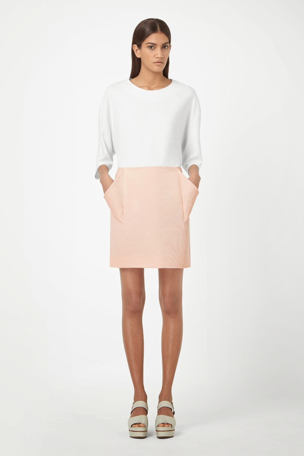 cos pink skirt