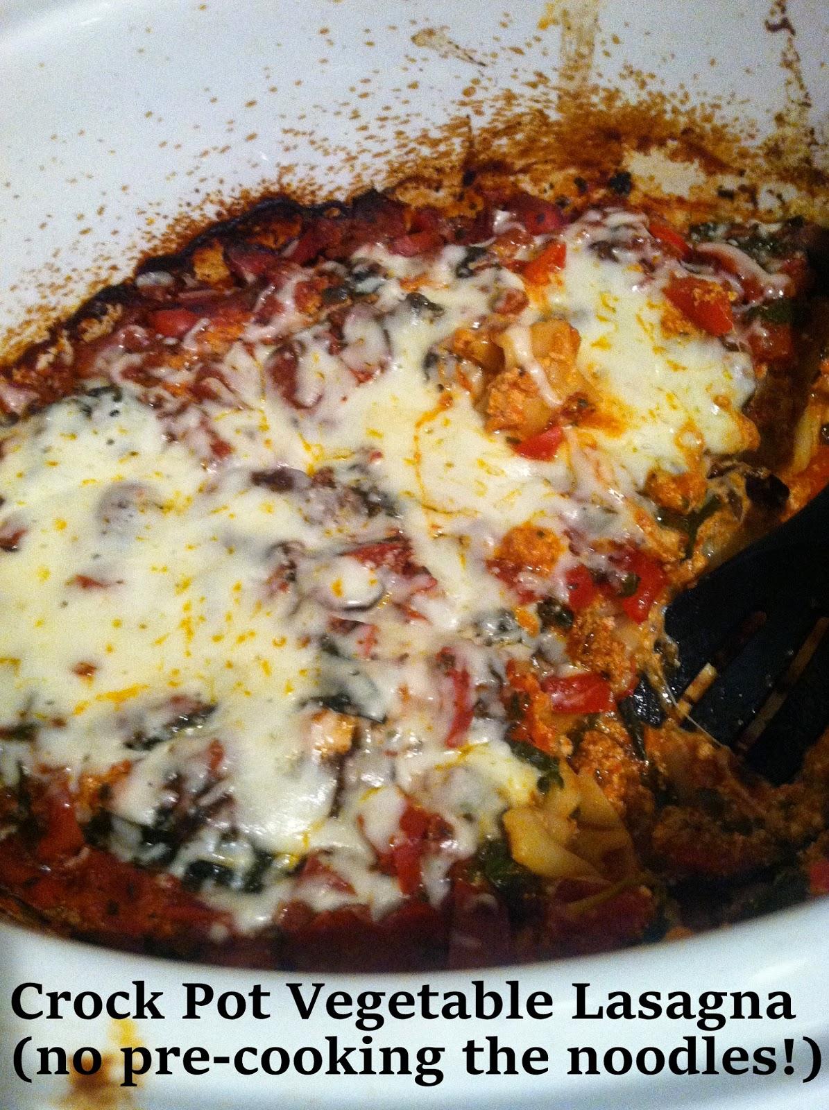 Crock Pot Vegetable Lasagna - LaForce Be With You