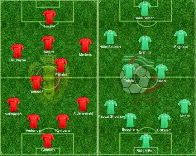 FIFA World Cup 2014 - Belgium Vs Algeria - Starting Lineup