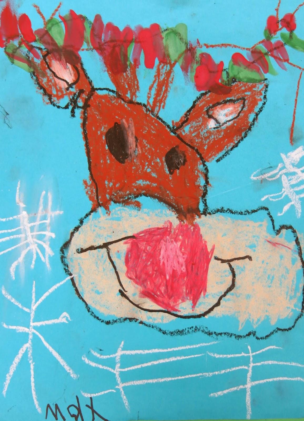 Cassie Stephens: In the Art Room: Kindergarten Reindeer!