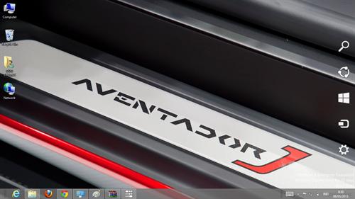 Lamborghini Aventador J Theme For Windows 7 And 8