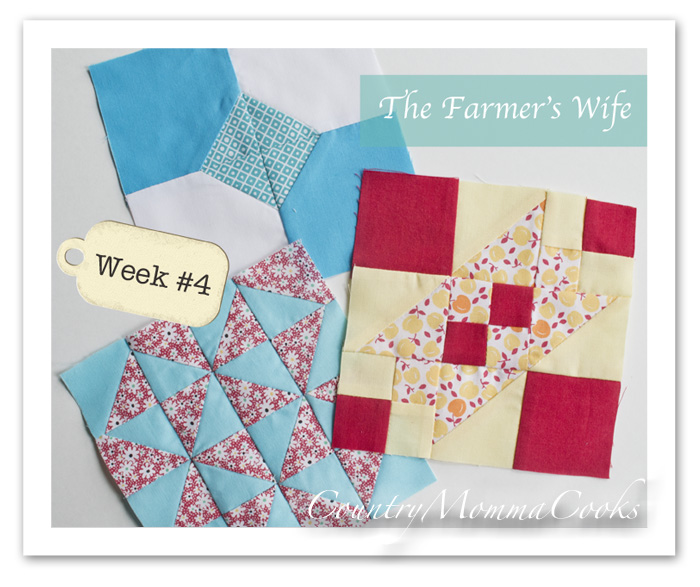Farmer's Wife Quilt Along week 4