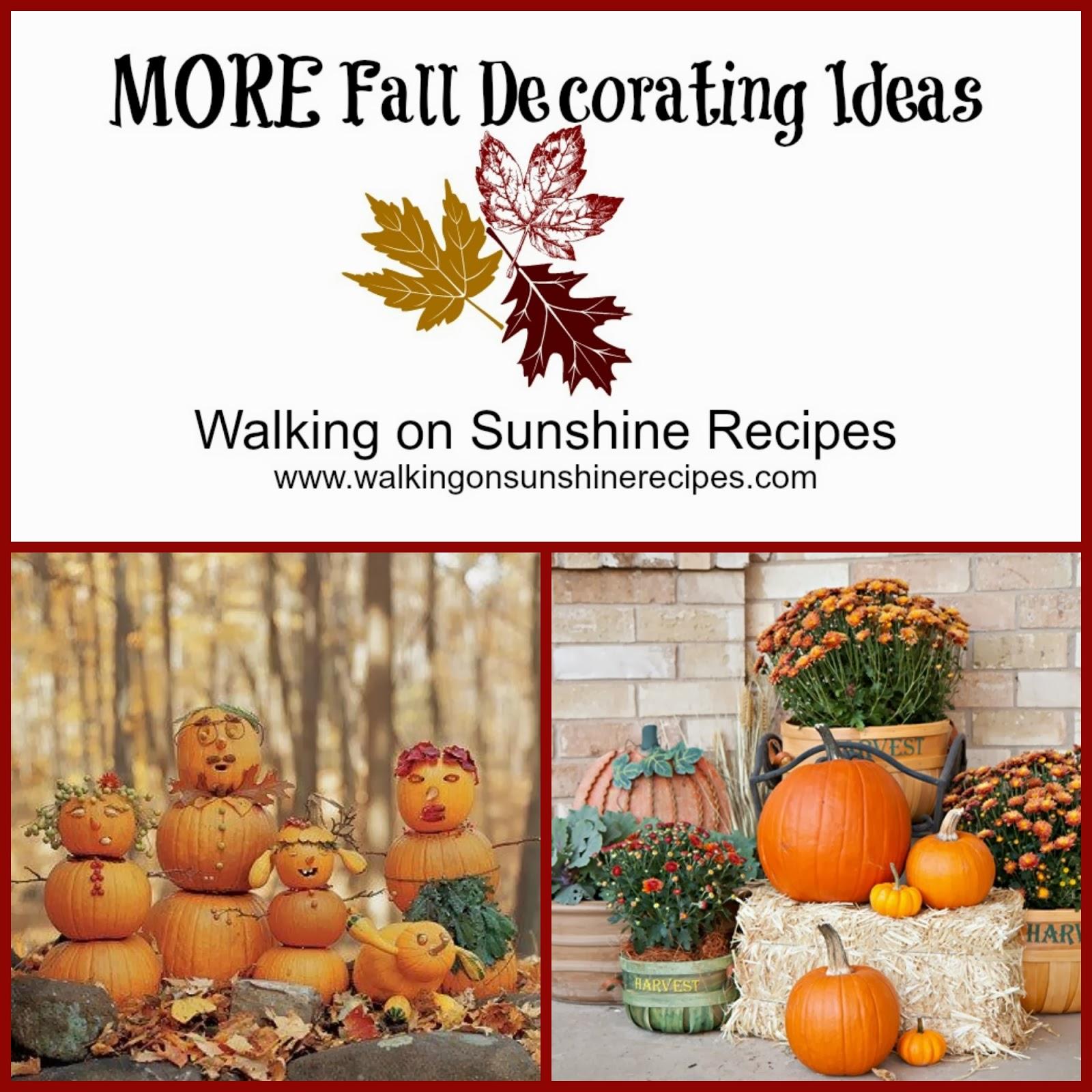 Outside Fall Decor Decorating Outside For Fall Walking On Sunshine