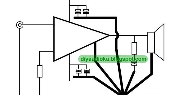 diy audio elektronika  star grounding layout pcb