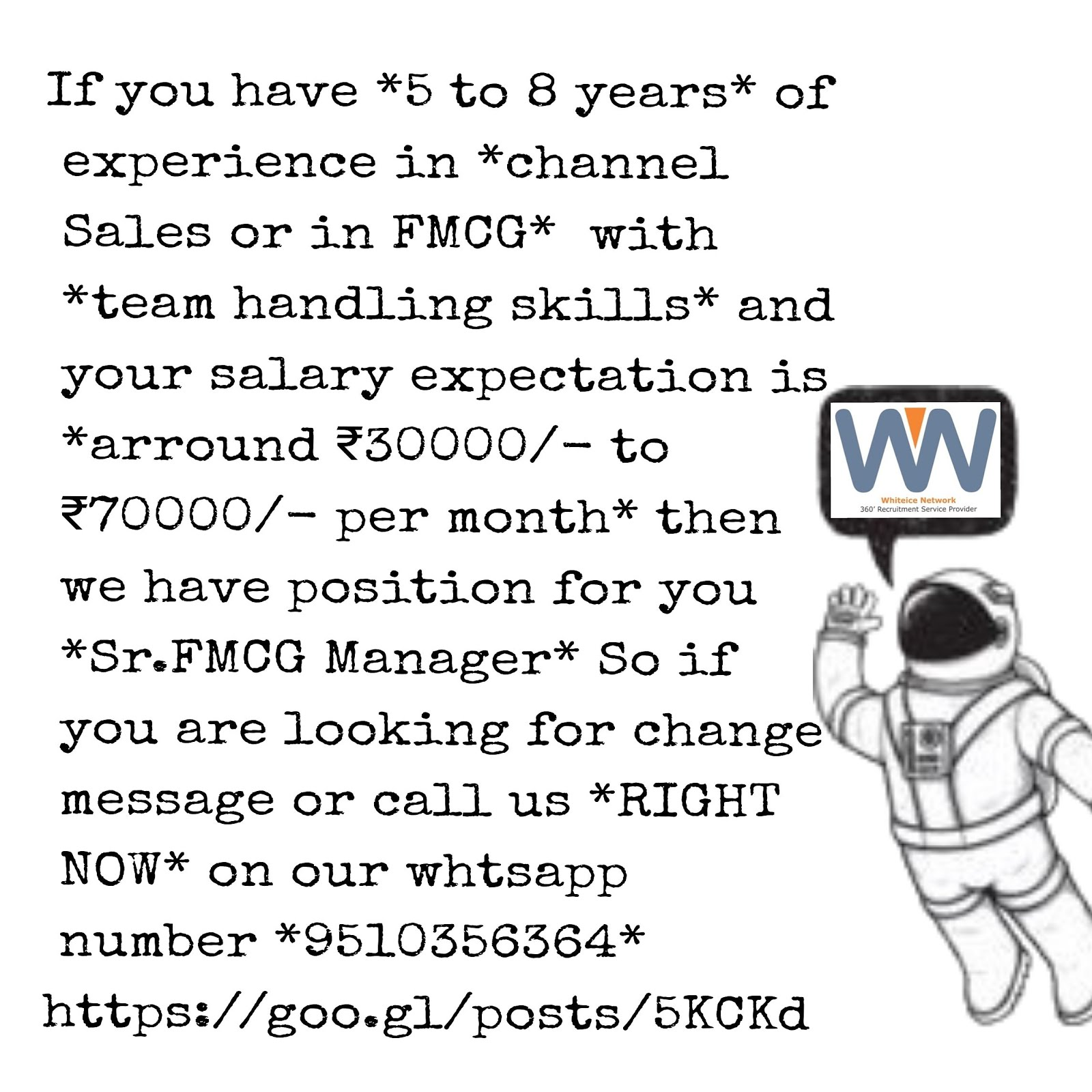 Urgently Required...
