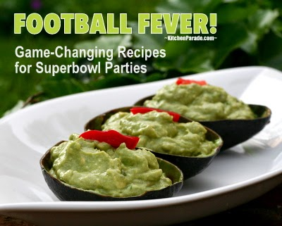 Football Fever! A fun, football-friendly collection of game-changing recipes for Superbowl parties. Party on!