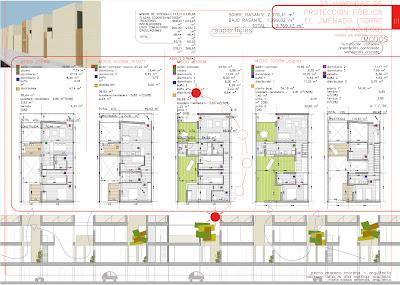 Panel 03 Concurso 25 viviendas de protección pública en El Jimenado