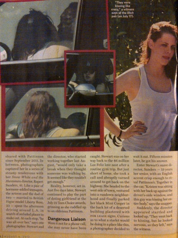 Kristen Stewart Caught With Snow White and the Huntsman Director Rupert Sanders