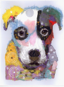 Pop Art Torn Paper Pet Portrait -Caleb