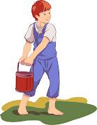 Un niño con las botas embarradas
