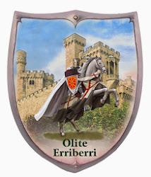 Escudos y espadas con dibujos de Olite