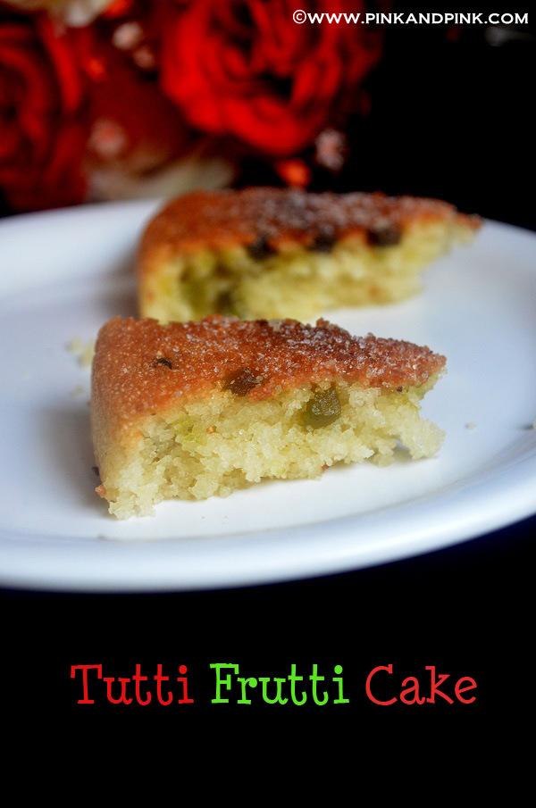 Tutti Frutti Cake In Pressure Cooker