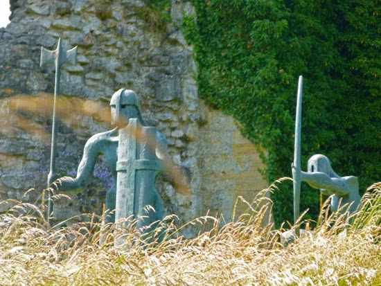 Sculptures, Helmsley, North Yorkshire, English Heritage