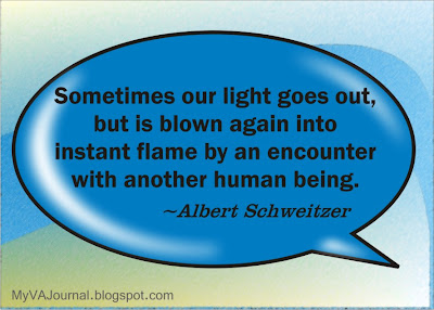 sometimes our light goes out, Albert Schweitzer