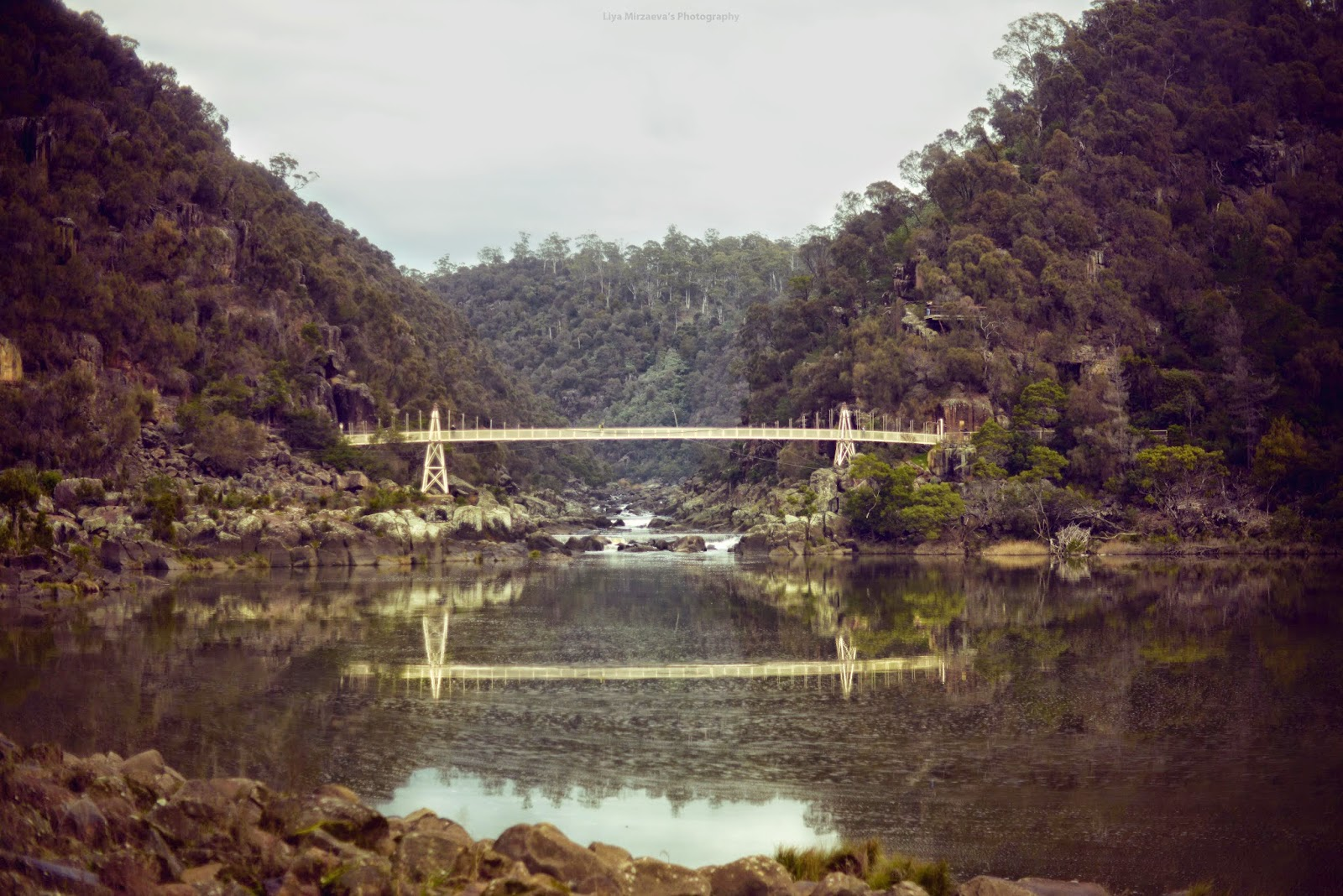LiyaMirzaeva Liya Mirzaeva Landscape photography art Australia Sydney Launceston CataractGorge Cataract Gorge Park green cold winter stormy rain rainy peacocks girls friends lifestyle beautiful travel journey roadtrip everyday