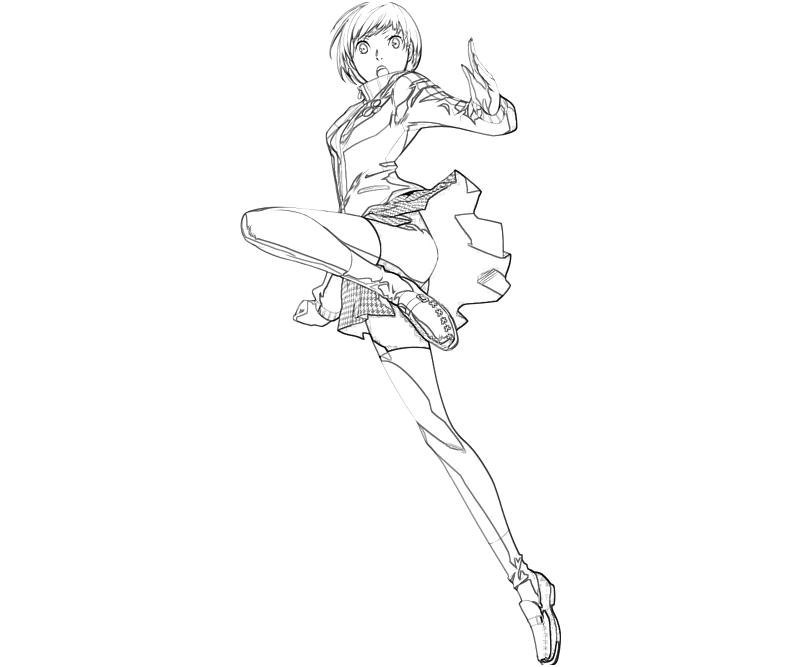 printable-best-persona-4-arena-chie-satonaka_coloring-pages