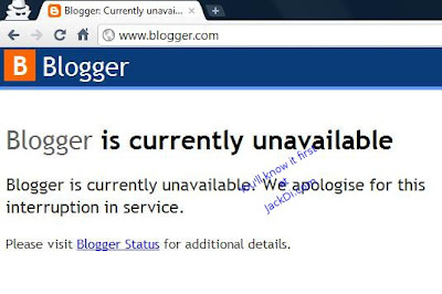 Blogger is currently unavailable blogger status blogger error message prompt cannot login to blogger