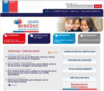 Certificados Del Ministerio De Educacion Chile