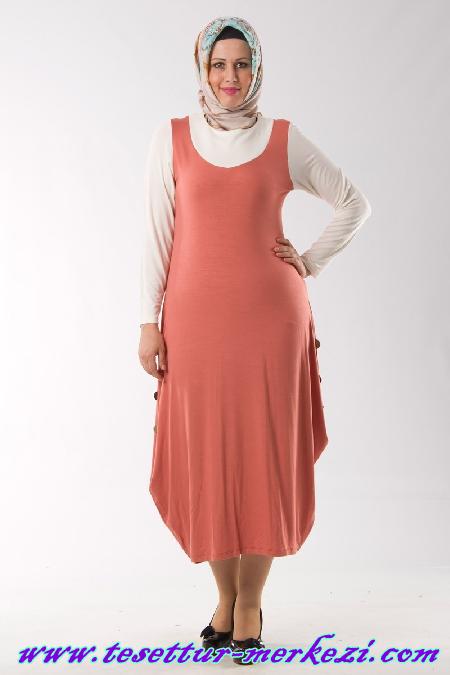Melisita Büyük Beden Tesettür Elbise Modeli