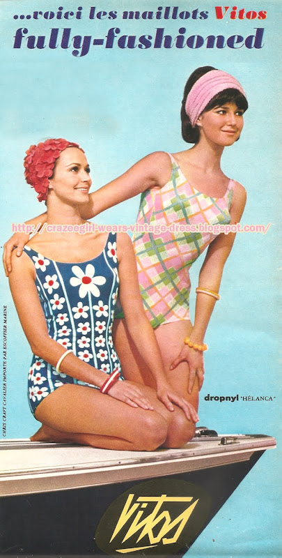 Vitos - Swim suit -1965 swimsuit 60s 1960