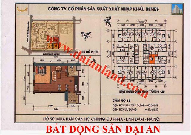 Căn hộ số 18 - Chung Cư HH4A Linh Đàm