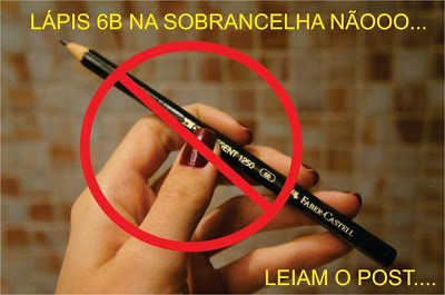 lapis 6b não pode ser usado para corrigir sobrancelhas