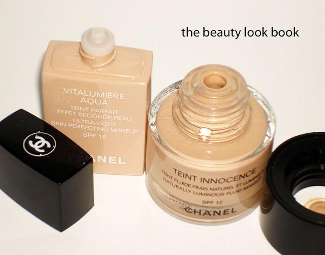 the beauty look book chanel vitalumi re aqua vs teint innocence. Black Bedroom Furniture Sets. Home Design Ideas