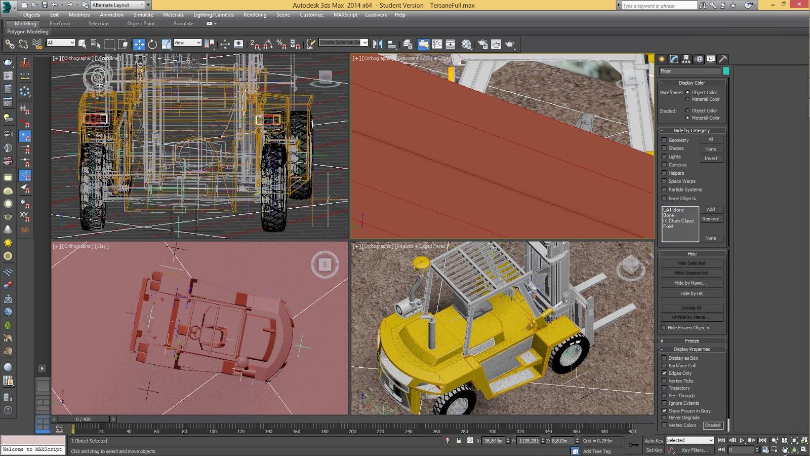 3DSMax Forklift Modelleme