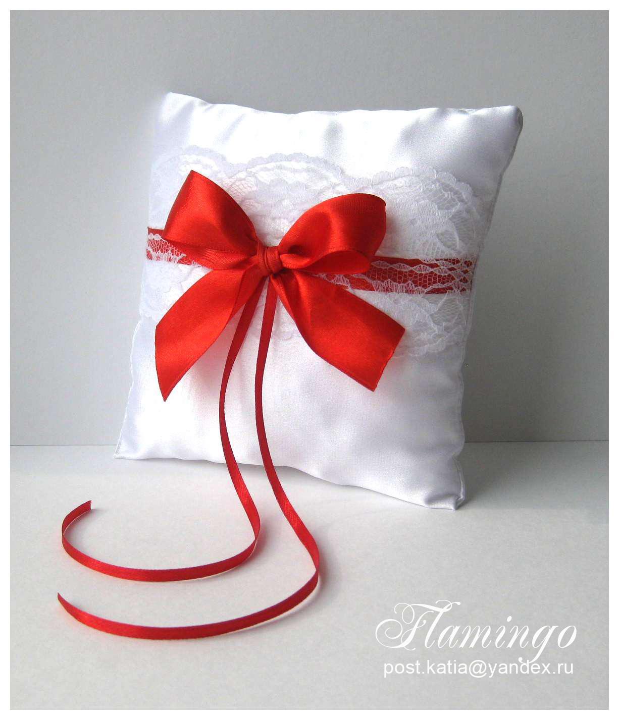 Свадебная подушечка для колец своими руками пошагово 60