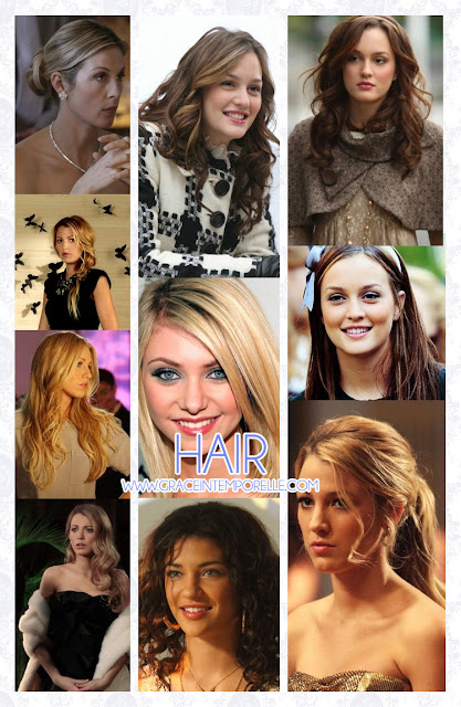 Blair, Serena, Lilly, Jenny, Vanessa Gossip Girl Hair Grace Intemporelle