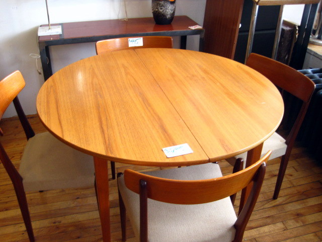 GUFF Used Vintage Mid Century Furniture Round Teak Dining Table SOLD