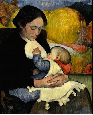 Maternidad: Marie Henry amamantando a su hija Marie-Léa (1890)