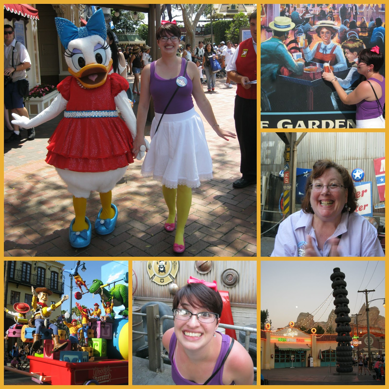 Daisy Duck Took Hold Of Em's Hand And They Sashayed Down Main Street Do  You See It? Em Is Dressed Like Daisy Duck! We Wandered About California  Adventure
