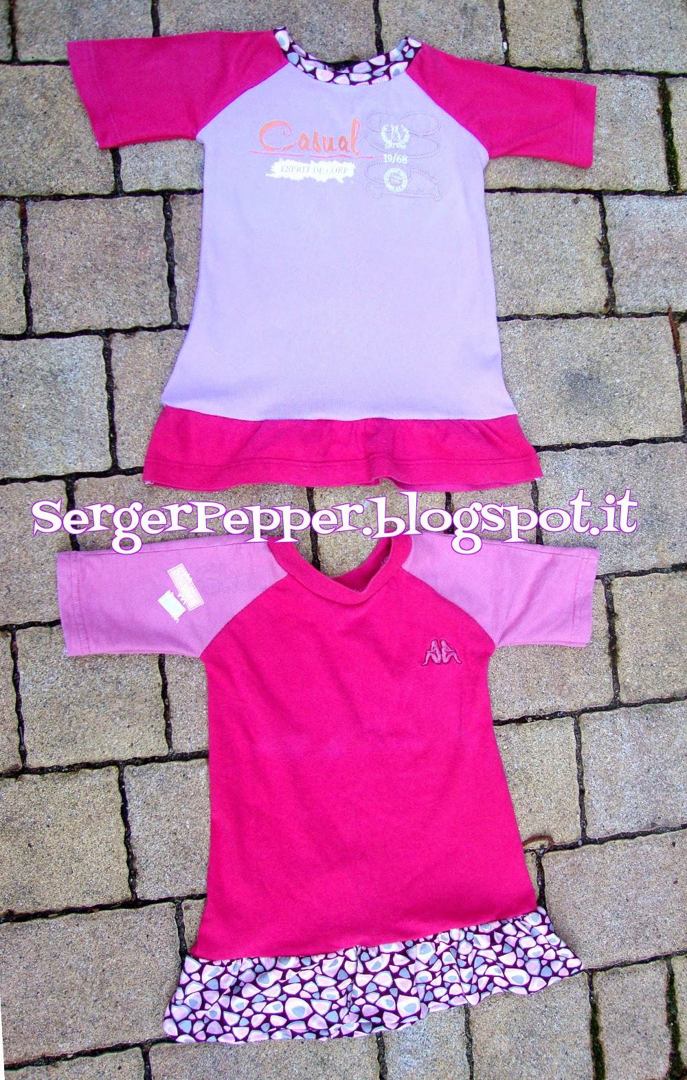 Free Refashion Raglan tee pattern with skirt