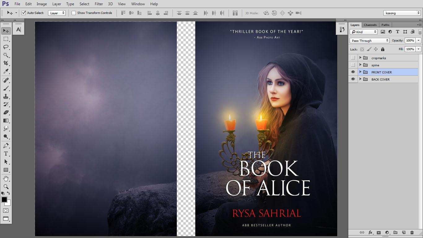 Ilmu Desain Gratis: Design cover buku Novel dengan