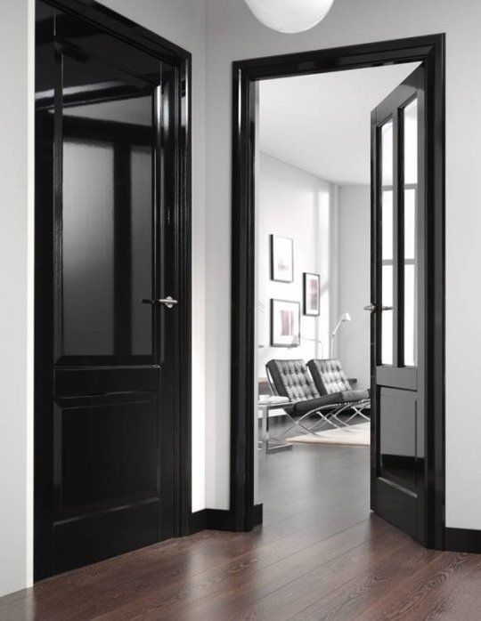 Willow bee inspired be inspired no 81 black interior doors - Sophisticated black interior doors ...