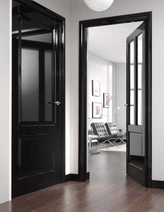 Head Over Heels In Love With Black Painted Interior Doors!