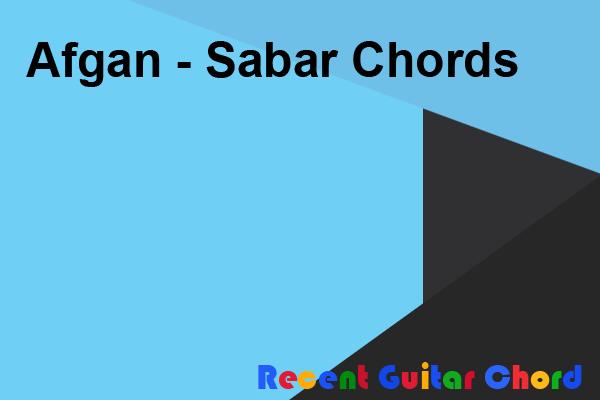 Afgan - Sabar Chords