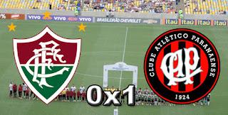 Placar Fluminense 0x1 Atlético-PR