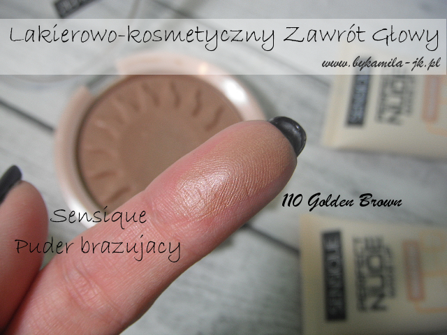 Sensique puder brązujący 110 Golden Brown Natura swatch