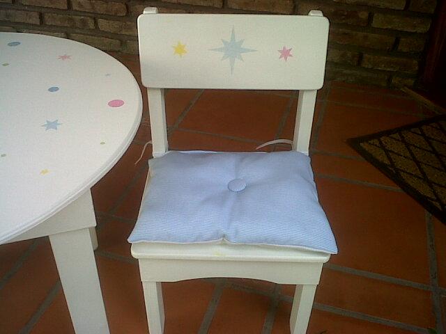 varita magica mesas y sillas para chicos
